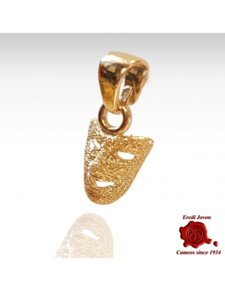 Carnival's Mask Stardust Gold Charm