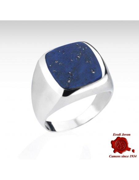 Lapislazzuli Silver Signet Ring