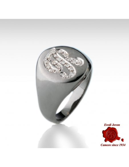 Initial Ring with Diamond