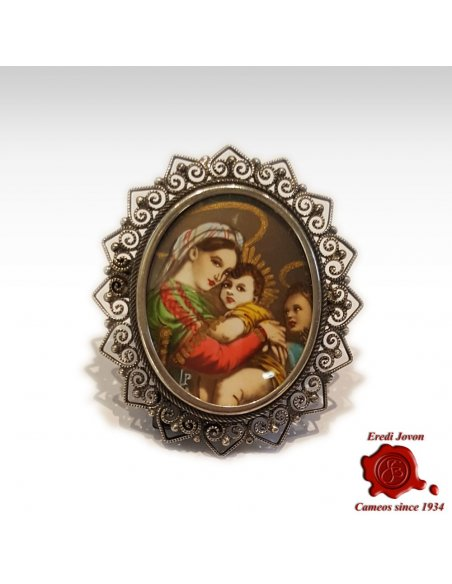 Antique Miniature Portraits Silver