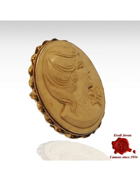 Lava Stone Cameo Antique
