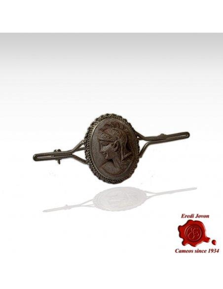 Lava Stone Antique Cameo Pin