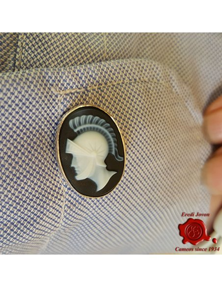 Warrior Cameo cufflinks Silver