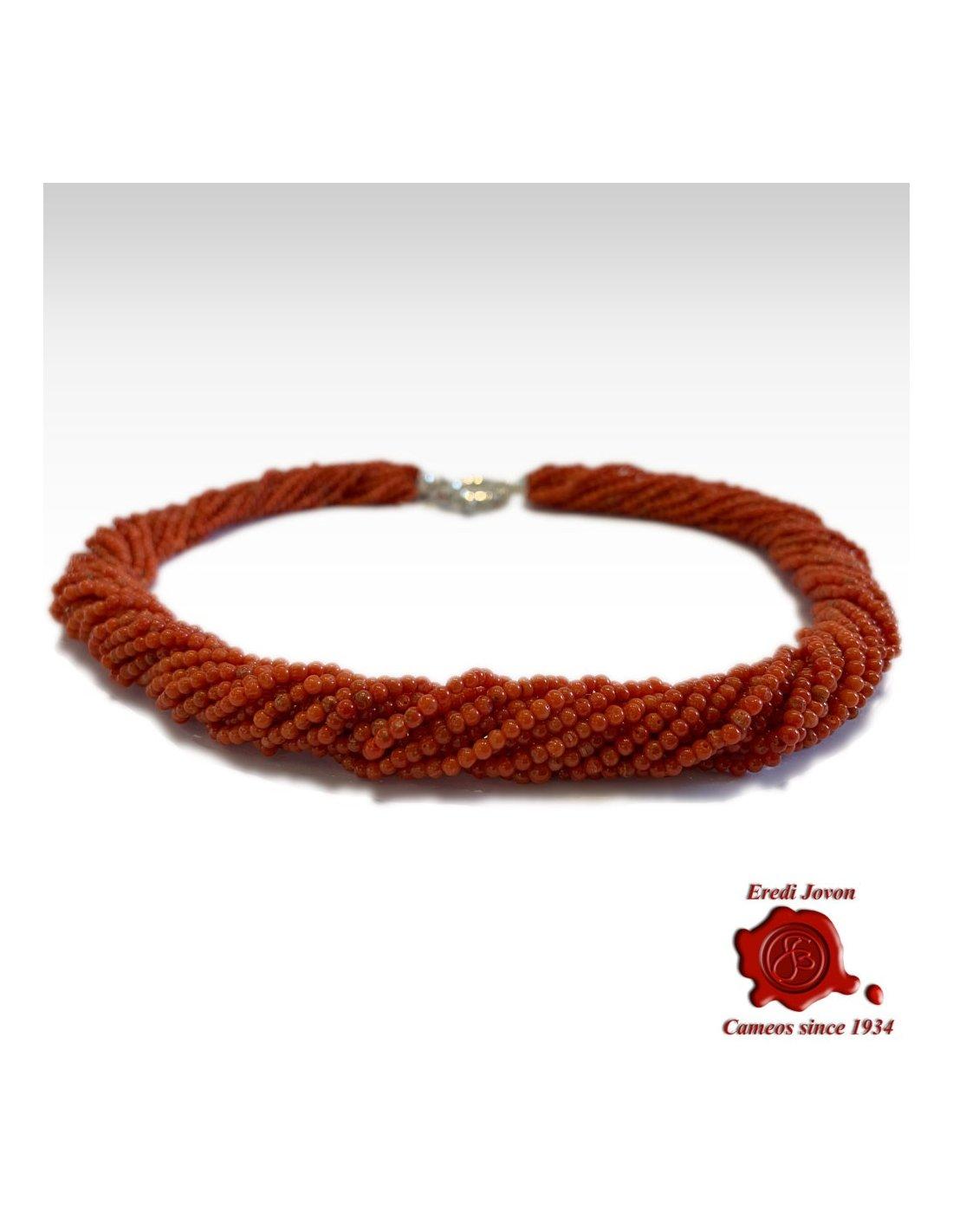 pedant rope bracelet Red Coral elegant Necklace transformer