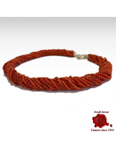 Torchon Corallo Rosso Argento