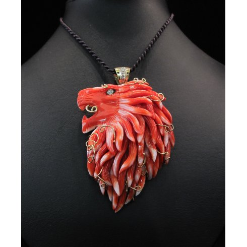Red Coral Lion