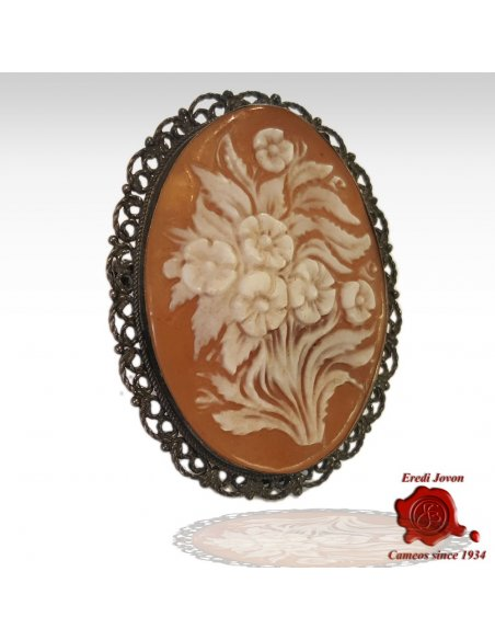 Antique Flowers Cameo