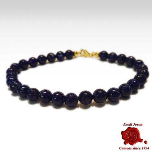 Bracciale Lapis Lazuli Argento Pallini
