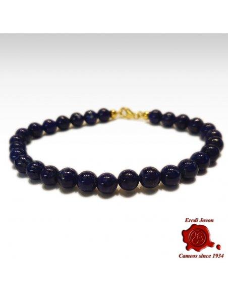 Bracelet Blue Lapis Lazuli Beads