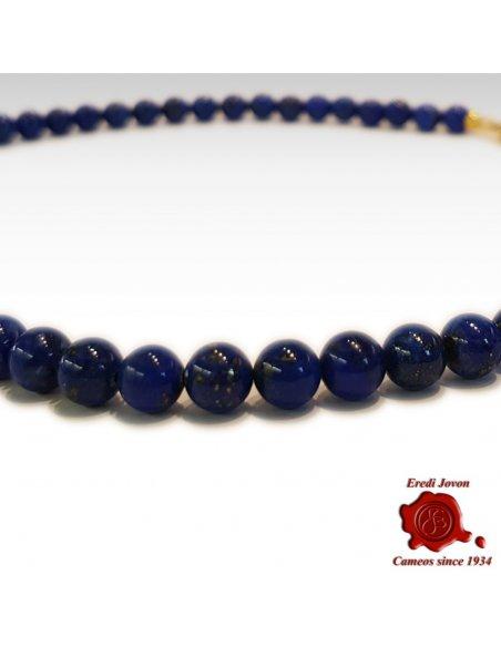 Collana Lapis Lazuli a Pallini in Argento o Oro
