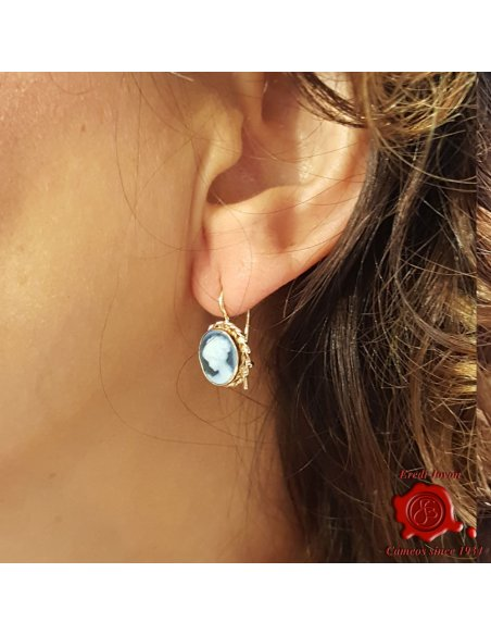 Venice Cameo Blu Earrings