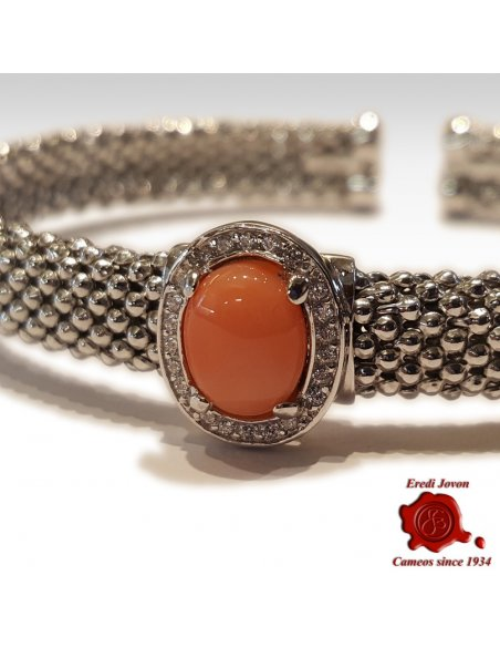 Bracelet Silver and Pink Coral