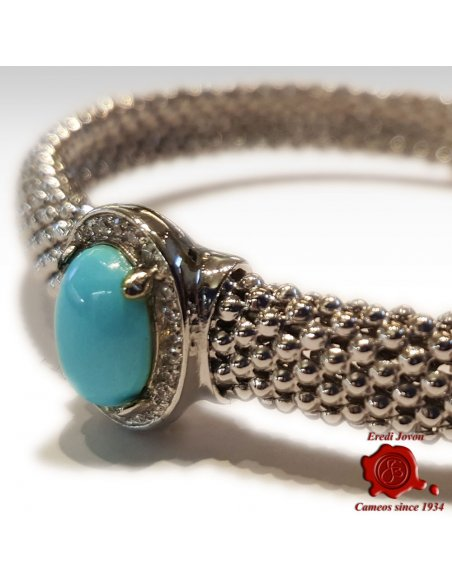 Silver Bracelet with Turquoise