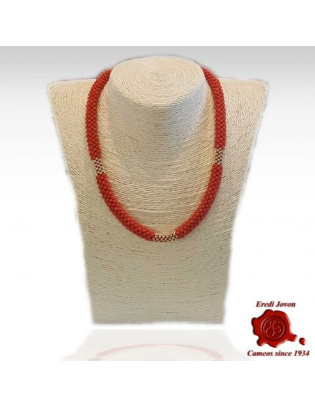 Red Coral Necklace Gold Tessito