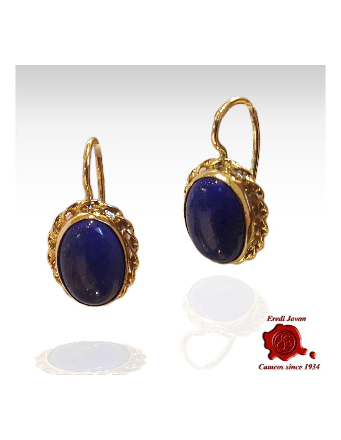 LAPIS LAZULI dangle earrings  blue crystal earrings  egyptian earrings  gold dangle earrings Lapis gold earrings circle dangle earrings
