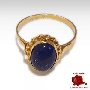 Anello Lapis Lazuli e Oro Giallo