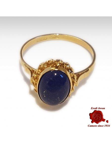 Blue Lapis Lazuli Ring Gold