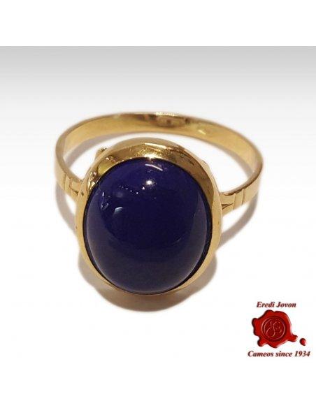 Lapis Lazuli Ring Gold Plane