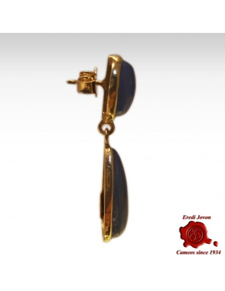 Lapis lazuli Dangle Earrings Tear Drop