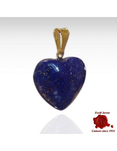 Ciondolo Cuore Lapis Lazuli in Oro Giallo