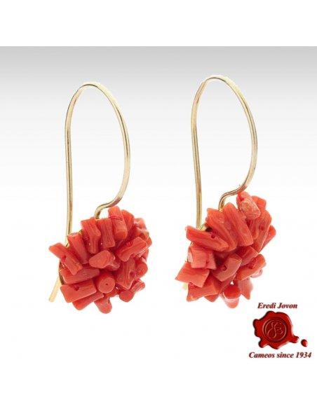 Orecchino in  Corallo Rosso con Chiusura in Argento