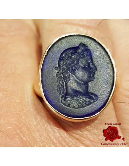 Man Signet Ring with Intaglio Cameo