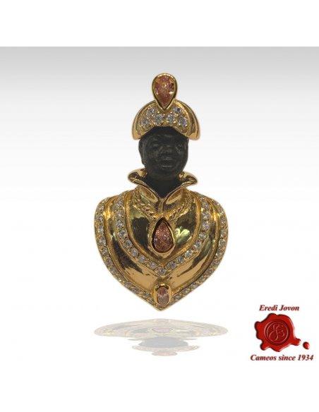 Blackamoor Brooch Jewelry Silver Small