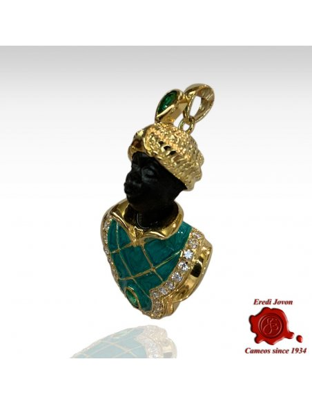 Venetian Blackamoor Pendant Jewelry Silver Big
