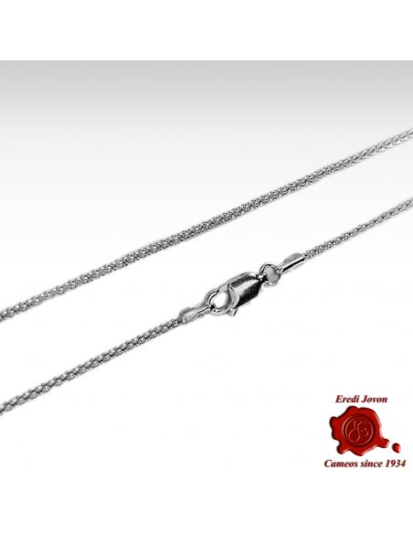 Solid Silver Chain Rope Design