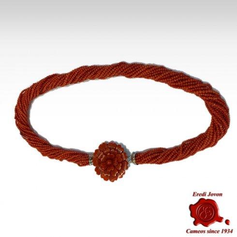 Torchon Corallo Rosso Oro