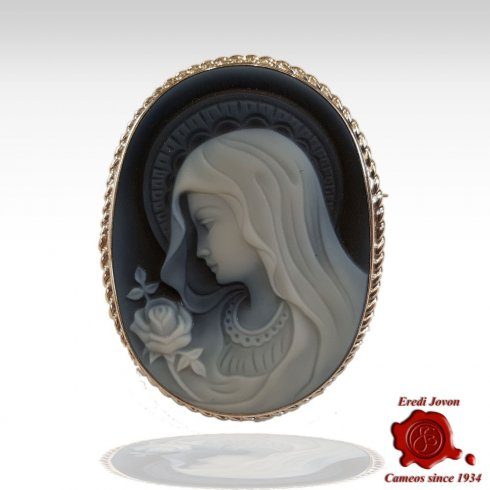 Vergine Maria Spilla Cammeo Argento