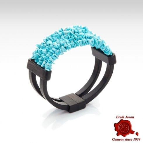 Turquoise and Ebony Bracelet