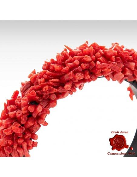 Bracciale Corallo Rosso Ebano