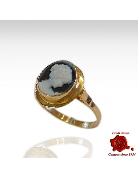 Venice Cameo Gold Ring