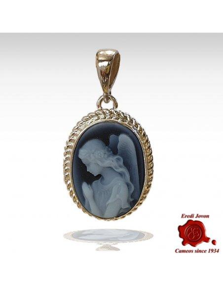 Angel Cameo Silver Pendant