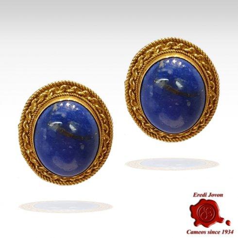 Orecchini Filigrana Lapis Lazuli e Oro Giallo