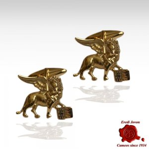Venetian Lion Cufflinks Gold