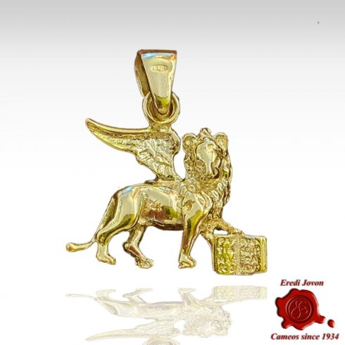 Saint Mark Winged Lion Gold Charm