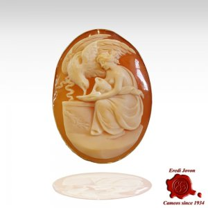 Leda and the Swan Antique Cameo
