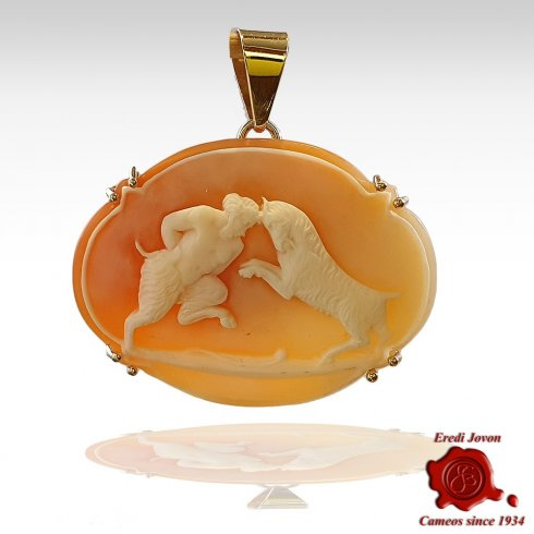 Pan Antique Cameo Gold