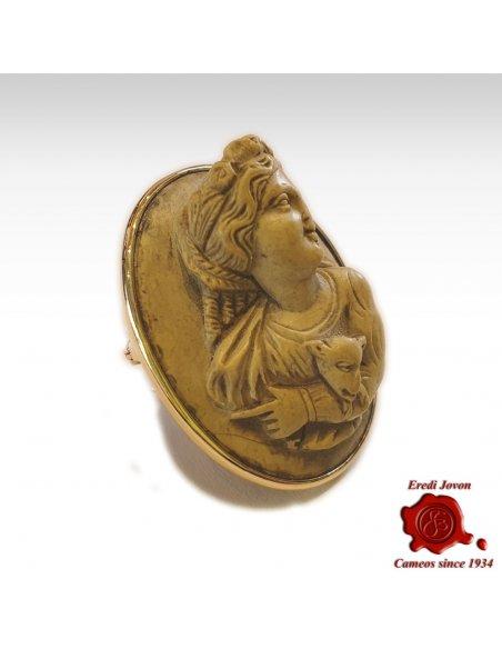 Lava Stone Cameo Antique Raphael