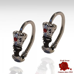 Blackamoor Earrings Silver...