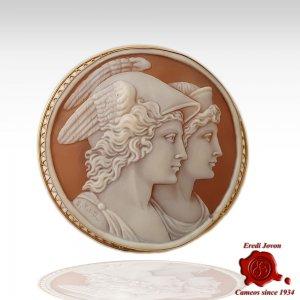 Mercurio e Venere Cammeo in Oro