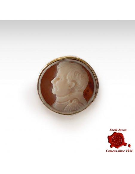 Anello Cammeo Napoleone Argento Chevalier
