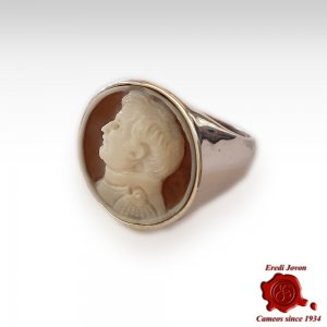 Napoleon Cameo Signet Ring Silver