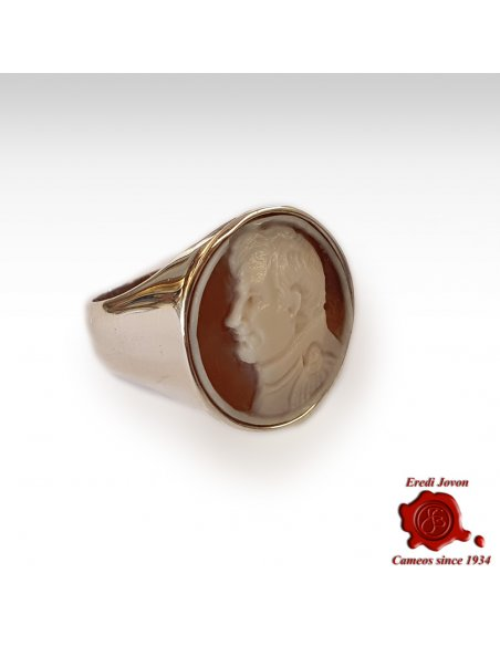 Napoleon Cameo Signet Ring Silver