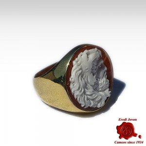 Hercules Cameo Signet Ring...