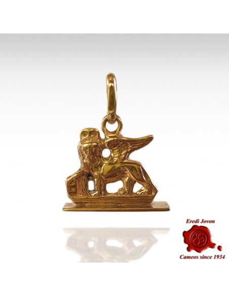Gold Charm Winged Lion of Venice