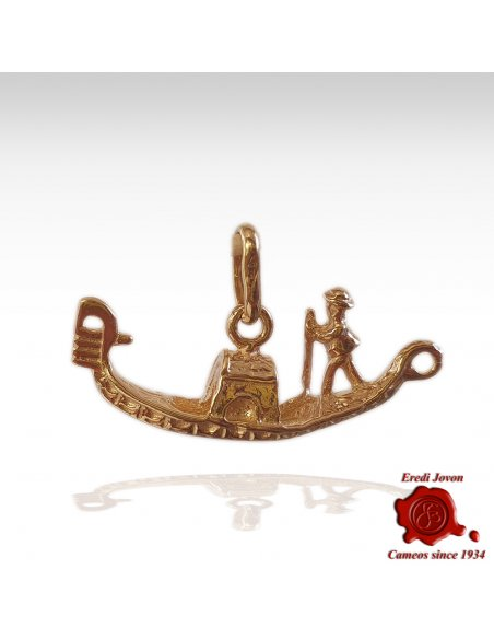 Gondola Charm Yellow Gold - Large