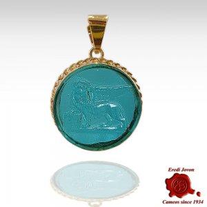 Saint Mark Lion Glass...